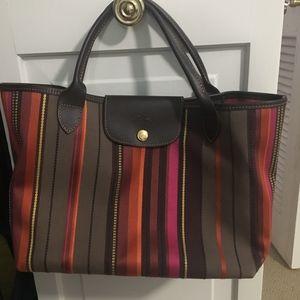 Limited Edition! Longchamp Striped Purse